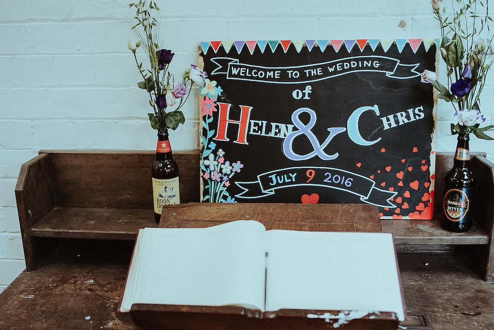 Chris & Helen's Wedding, Ceremony & Reception at Leeds Left Bank. 9th July 2016