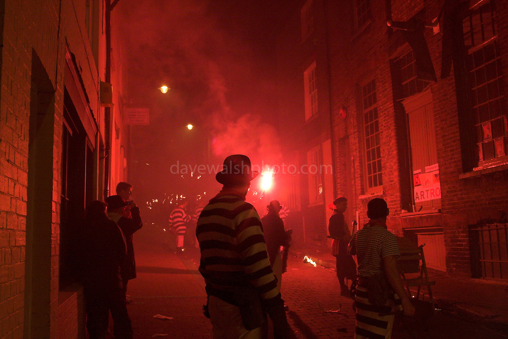 Bonfire night in Lewes - the late parade around the streets..5/11/05