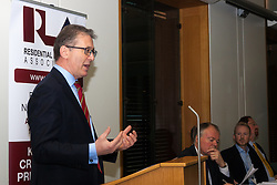 Portcullis House, Westminster, London, January 14th 2014. Members of the Residential Landlords Association attend the launch of their Policy Manifesto and hear views from MPs. PICTURED: Mark Pawsey MP addresses the gathering.