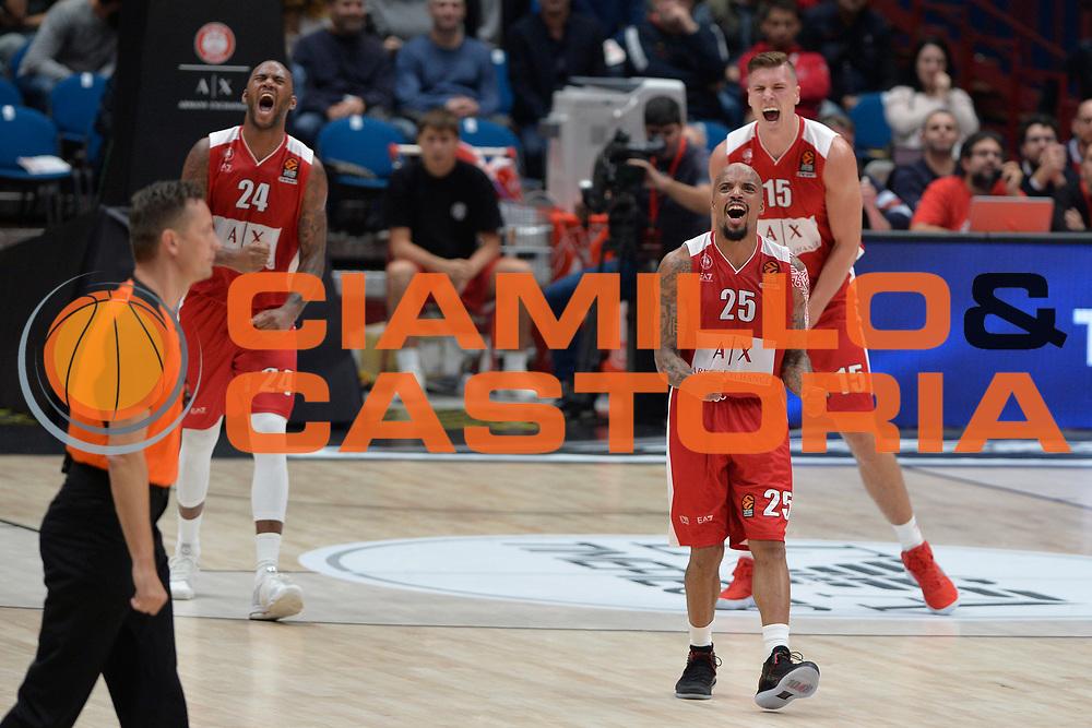 Theodore Jordan<br /> Olimpia Milano - FC Barcellona<br /> EuroLeague 2017-2018<br /> Milano 26/10/2017<br /> Foto di Ivan Mancini /Ciamillo-Castoria