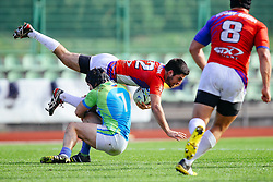 Max Skofic of Slovenia during rugby match between National team of Slovenia (green-blue) and Serbia (red-white) at EUROPEAN NATIONS CUP 2016-17, Conference 2, South, on October 29, 2016, at ZAK Stadium, Ljubljana, Slovenia. Photo by Matic Klansek Velej / Sportida