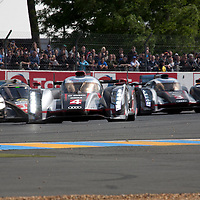#3, #4 Audi R18 Ultra Team, Audi Sport Team Joest (#12 Lola, Rebellion Racing), Le Mans 24H, 2012
