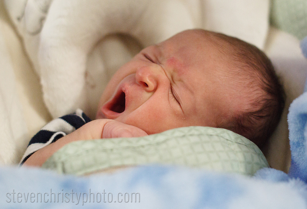 April 10, 2014: Connor Michael Christy hangs out at home.