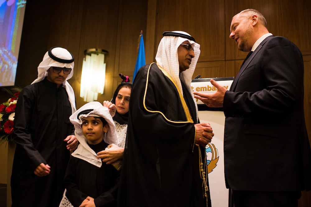 Andrey Artemenko attends a reception for the Kuwaiti Embassy at the Kiev Hilton on February 22, 2017 in Kiev, Ukraine.