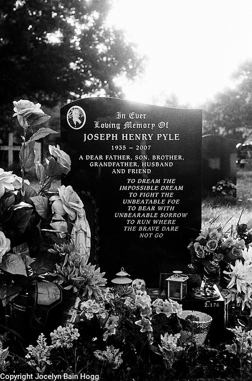 THE FAMILY - Headstone of Joe Pyle senior, gangland boss and former head of the Pyle family.