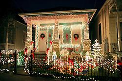 22 December 2011.New Orleans, Louisiana, USA.  <br /> Christmas lights adorn Uptown houses.<br /> Photos; Charlie Varley