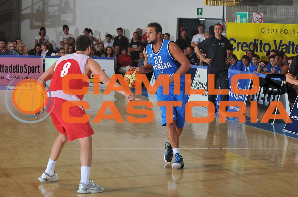 DESCRIZIONE : Bormio Torneo Internazionale Diego Gianatti Italia Bulgaria<br /> GIOCATORE : Marco Bellinelli<br /> CATEGORIA : Palleggio<br /> SQUADRA : Nazionale Italia Uomini<br /> EVENTO : Torneo Internazionale Guido Gianatti<br /> GARA : Italia Macedonia<br /> DATA : 30/07/2011 <br /> SPORT : Pallacanestro <br /> AUTORE : Agenzia Ciamillo-Castoria/M.Gregolin<br /> Galleria : Fip Nazionali 2011<br /> Fotonotizia : Bormio Torneo Internazionale Diego Gianatti Italia Bulgaria<br /> Predefinita :