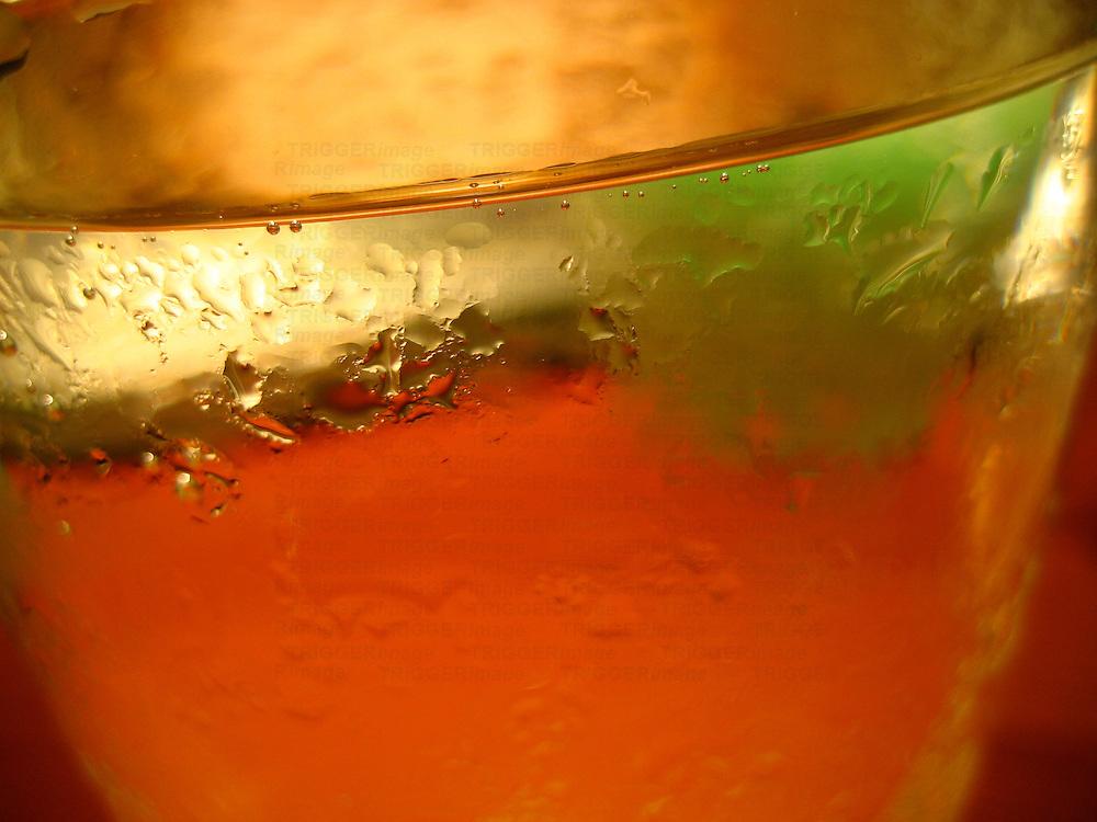 A macro shot of condensation
