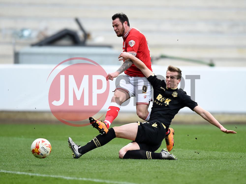 Lee Tomlin of Bristol City scores  - Mandatory byline: Joe Meredith/JMP - 19/03/2016 - FOOTBALL - Ashton Gate - Bristol, England - Bristol City v Bolton Wanderers - Sky Bet Championship