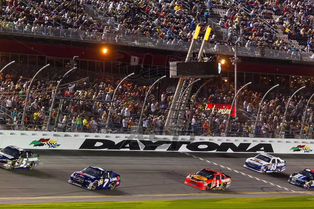 DAYTONA BEACH, FL - Feb 27, 2012:  After a delayed start due to weather, the NASCAR Sprint Cup Series take to the track for the Daytona 500 at the Daytona International Speedway in Daytona Beach, FL.