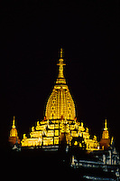 The Ananda Temple at night, Bagan (Pagan), Burma (Myanmar)