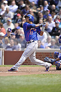 CHICAGO - MAY 17:  Ruben Tejada #11 of the New York Mets bats against the Chicago Cubs on May 17, 2013 at Wrigley Field in Chicago, Illinois.  The Mets defeated the Cubs 3-2.  (Photo by Ron Vesely/MLB Photos via Getty Images)  *** Local Caption *** Ruben Tejada