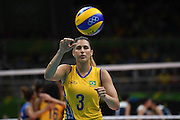 RIO DE JANEIRO, BRAZIL - AUGUST 16:<br /> <br /> Dani Lins #3 of Brazil in action during the Women\'s Quarterfinal match between China and Brazil on day 11 of the Rio 2106 Olympic Games at the Maracanazinho on August 16, 2016 in Rio de Janeiro, Brazil. <br /> ©Exclusivepix Media