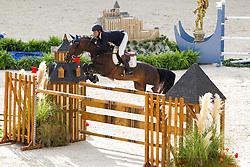 Daniel Bluman, (COL), Conconcreto Sancha LS - Team & Individual Competition Jumping Speed - Alltech FEI World Equestrian Games™ 2014 - Normandy, France.<br /> © Hippo Foto Team - Leanjo De Koster<br /> 02-09-14