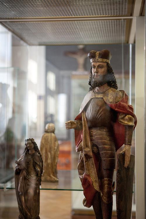 Ein Exponat des Heiligen Wenzel im Prager Stadtmuseum.