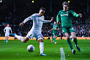 Leeds United forward Helder Costa (17) passes the ball during the EFL Sky Bet Championship match between Leeds United and Sheffield Wednesday at Elland Road, Leeds, England on 11 January 2020.