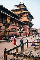 Early morning in Durbar Square in Patan, Nepal.