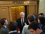 Dec 13, 2010 - Washington, District of Columbia, U.S. -  Senator PATRICK LEAHY (D-VT) speaks with with reporters before voting against President Barack Obama's tax compromise with Republicans on Monday.  Todays vote was the first major test for the $858 billion bill, which renews the Bush-era tax cuts for all Americans.. (Credit Image: © Pete Marovich/ZUMA Press)