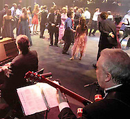 "Marc Pequignot on keyboard and Chuck Young on guitar (part of the 'Grease combo') entertain the dancers in the Festival Playhouse at the 2007 Arts Gala at Wright State University, Saturday evening.  After the ""Broadway Revue"" finishes their last performance, the audience is invited to the stage to dance.."