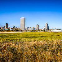 Milwaukee Skyline Photo with Lakeshore State Park. Picture includes the US Bank building, University Club Tower, and Northwestern Mutual Tower. Photo is high resolution.