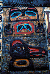 AK: Alaska carved house      .Photo Copyright: Lee Foster, lee@fostertravel.com, www.fostertravel.com, (510) 549-2202.Image: aksitk210.