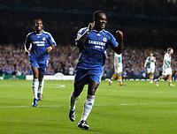 Photo: Daniel Hambury.<br />Chelsea v Werder Bremen. UEFA Champions League, Group A. 12/09/2006.<br />Chelsea's Michael Essien celebrates his goal. 1-0.