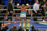 Kid Galahad celebrates winning his fight against Claudio Marrero before the Kell Brook vs Mark DeLuca WBO Inter-Continental Super Welterweight fight at the FlyDSA Arena, Sheffield, United Kingdom on 8 February 2020.