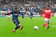 Pablo Hernandez (19) of Leeds United crosses the ball during the EFL Sky Bet Championship match between Bristol City and Leeds United at Ashton Gate, Bristol, England on 9 March 2019.