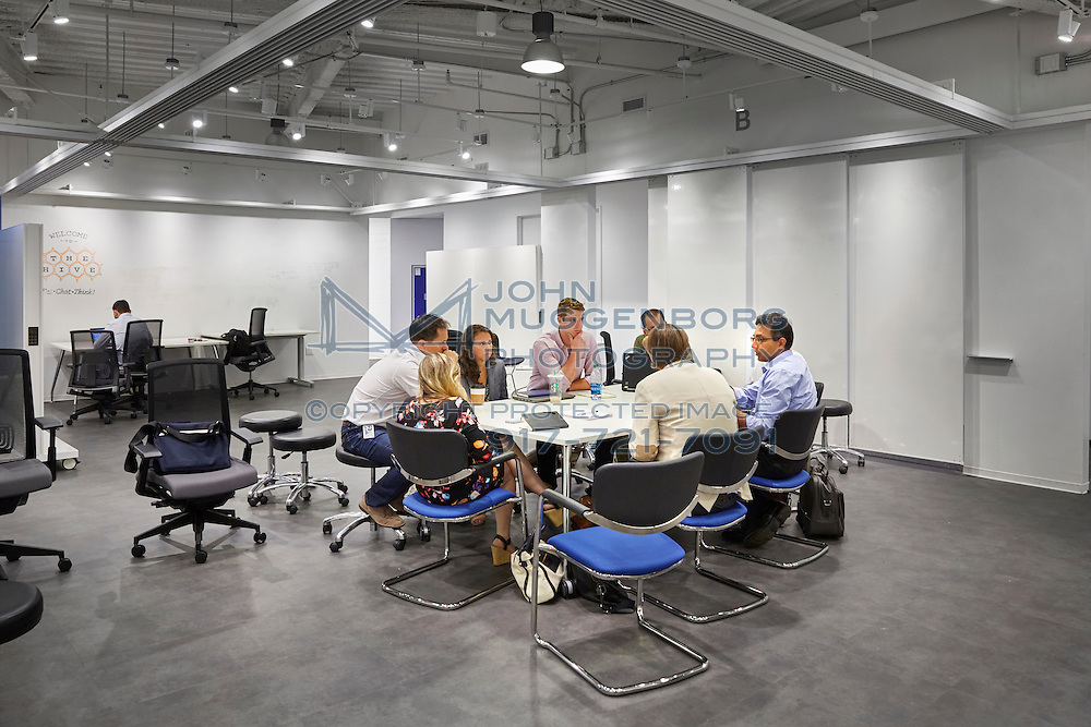 The IBM Watson offices at Astor Place in NYC photographed by John Muggenborg.