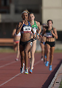 May 17, 2018; Los Angeles, CA, USA; Ce'Aira Brown wins the women's 800m in 2:00.38 during the USATF Distance Classic at Occidental College.
