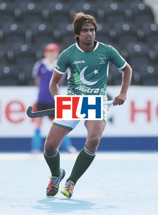 LONDON, ENGLAND - JUNE 15:  Muhammad Aleem Bilal of Pakistan during the Hero Hockey World League Semi Final match between Netherlands and Pakistan at Lee Valley Hockey and Tennis Centre on June 15, 2017 in London, England.  (Photo by Alex Morton/Getty Images)