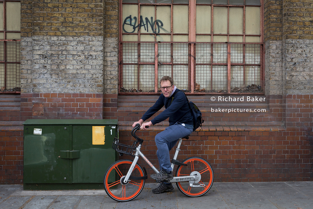Photographer Niall McDiarmid, at Elephant And Castle, on 3rd May 2018, in south London, UK.