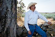 Dr. Adolfo Murillo, President & CEO of Tequila Alquimia, on his ranch near the village of Agua Negro, where his family has farmed for generations. Dr. Murillo, an optimetrist  by training, is a pioneer in the field of organic agave farming.