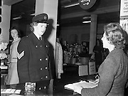 Ban Garda Sargent at Brown Thomas..06.04.1961 Irish Speaking