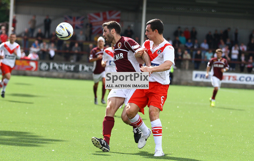 Martin Grehan (l) and Marc Fitzpatrick (r) clash for the ball (c) CRAIG JARDINE | SportPix.Org.uk