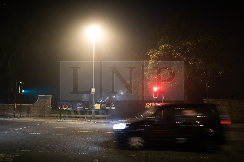 © Licensed to London News Pictures. 06/11/2017. Manchester , UK. Police are responding to a child abduction alert following bonfire night fireworks at Heaton Park, north Manchester.  Photo credit: Joel Goodman/LNP