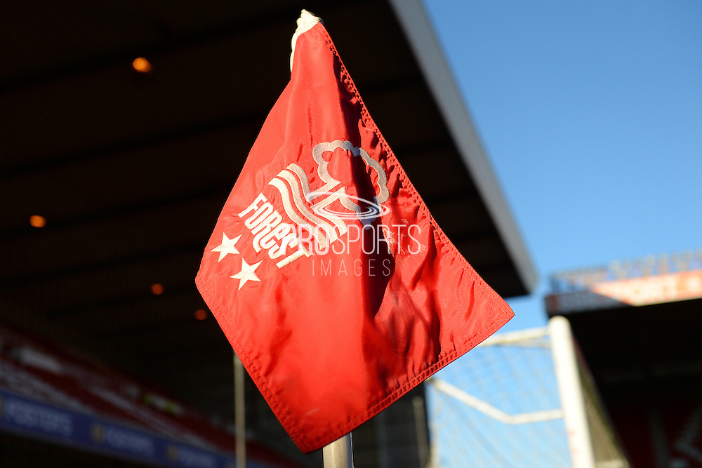 Corner flag ahead of the EFL Sky Bet Championship match between Nottingham Forest and Aston Villa at the City Ground, Nottingham, England on 4 February 2017. Photo by Jon Hobley.