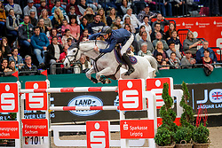 GUERDAT Steve (SUI), Mighty Mouse<br /> Leipzig - Partner Pferd 2020<br /> Longines FEI Jumping World Cup™ presented by Sparkasse<br /> Sparkassen Cup - Großer Preis von Leipzig FEI Jumping World Cup™ Wertungsprüfung <br /> Springprüfung mit Stechen, international<br /> Höhe: 1.55 m<br /> 19. Januar 2020<br /> © www.sportfotos-lafrentz.de/Stefan Lafrentz