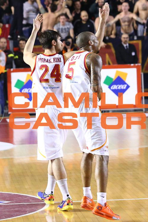 DESCRIZIONE : Roma Lega A 2013-2014 Acea Roma Sidigas Avellino<br /> GIOCATORE : Phil Goss Moraschini Riccardo<br /> CATEGORIA : esultanza<br /> SQUADRA : Acea Roma<br /> EVENTO : Campionato Lega A 2013-2014<br /> GARA : Acea Roma Sidigas Avellino<br /> DATA : 02/02/2014<br /> SPORT : Pallacanestro <br /> AUTORE : Agenzia Ciamillo-Castoria/M.Simoni<br /> Galleria : Lega Basket A 2013-2014  <br /> Fotonotizia : Roma Lega A 2013-2014 Acea Roma Sidigas Avellino<br /> Predefinita :