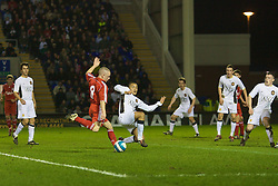 WARRINGTON, ENGLAND - Tuesday, February 26, 2008: Liverpool's Jay Spearing in action against Manchester United during the FA Premiership Reserves League (Northern Division) match at the Halliwell Jones Stadium. (Photo by David Rawcliffe/Propaganda)