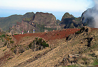 Madeira-Kraters in de bergen.