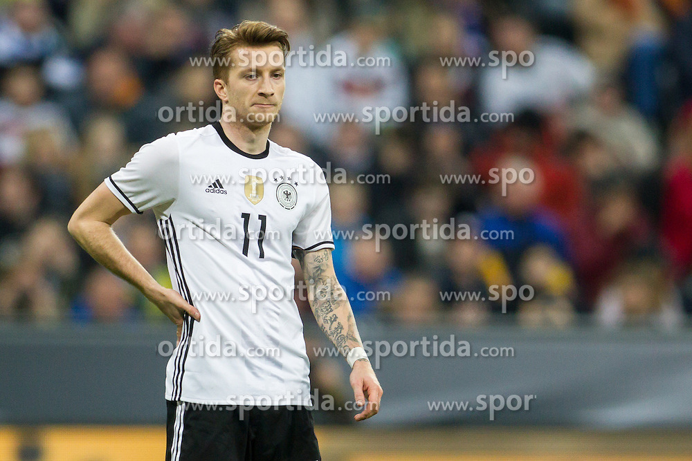 29.03.2016, Alianz Arena, Muenchen, GER, Testspiel, Deutschland vs Italein, im Bild Marco Reus (GER #11) // during the International Friendly Football Match between Germany and Italy at the Alianz Arena in Muenchen, Germany on 2016/03/29. EXPA Pictures &copy; 2016, PhotoCredit: EXPA/ Eibner-Pressefoto/ Sch&uuml;ler<br /> <br /> *****ATTENTION - OUT of GER*****