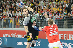 Kai Hafner of Germany during handball match between National teams of Germany and Denmark on Day 4 in Main Round of Men's EHF EURO 2018, on January 21, 2018 in Arena Varazdin, Varazdin, Croatia. Photo by Mario Horvat / Sportida