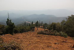 July 31, 2018 - California, U.S. - The Ferguson Fire now in its 20th day, started July 13 on the Sierra National Forest. The fire is now 62,883 acres with 39 percent containment and 3,558 personnel that are currently engaged on the fire which include 203 engines, 43 water tenders, 14 helicopters, 95 crews, 5 masticators and 62 dozers. There has been 2 fatalities and 9 injuries to date. 1 structure has been destroyed. (Credit Image: © Rubicon/Cal Fire via ZUMA Wire/ZUMAPRESS.com)