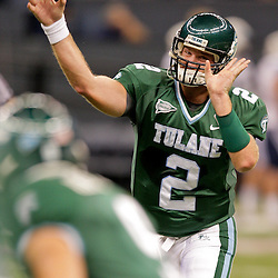 Sep 12, 2009; New Orleans, LA, USA; Tulane Green Wave quarterback Kevin Moore (2) against the BYU Cougars at the Louisiana Superdome.  BYU defeated Tulane 54-3. Mandatory Credit: Derick E. Hingle-US PRESSWIRE