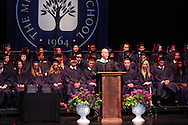 Headmaster Peter B. Benedict II speaks during the Miami Valley School 39th annual commencement at the Victoria Theatre in downtown Dayton, June 7, 2012.