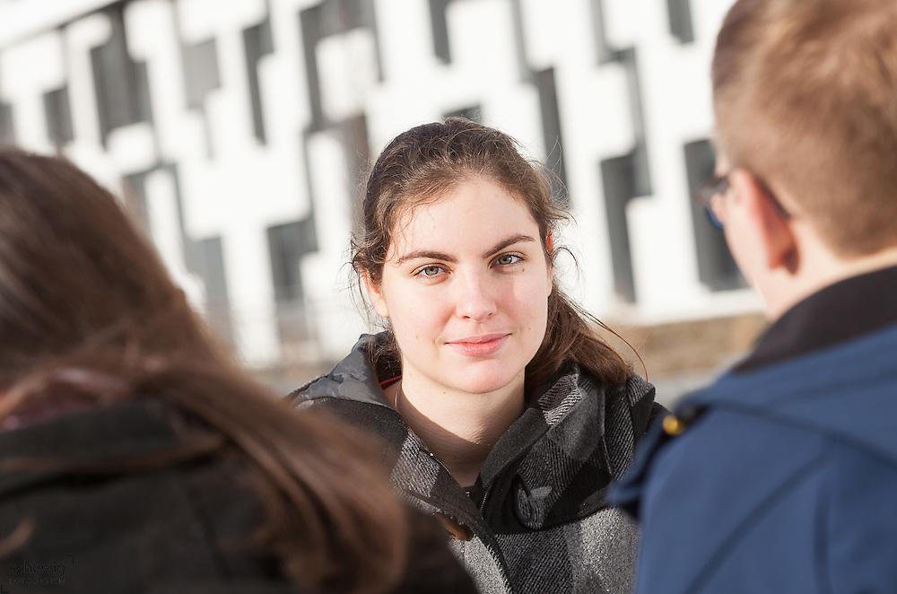 Austria, Vienna, Portrait of young woman, close up