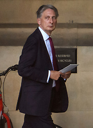 © Licensed to London News Pictures. 04/09/2019. London, UK. Conservative MP PHILIP HAMMOND is seen at the Houses of Parliament in Westminster, London. British Prime Minister Boris Johnson has a called for a general election after losing his first commons vote and losing his majority, removing his control of parliament. Photo credit: Ben Cawthra/LNP