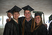 Friends celebrate at Undegraduate Commencement on Saturday, May 4, 2013. Photo by Ben Siegel
