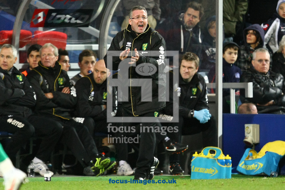 Picture by Paul Chesterton/Focus Images Ltd.  07904 640267.02/01/12.Norwich Manager Paul Lambert during the Barclays Premier League match at Loftus Road Stadium, London.